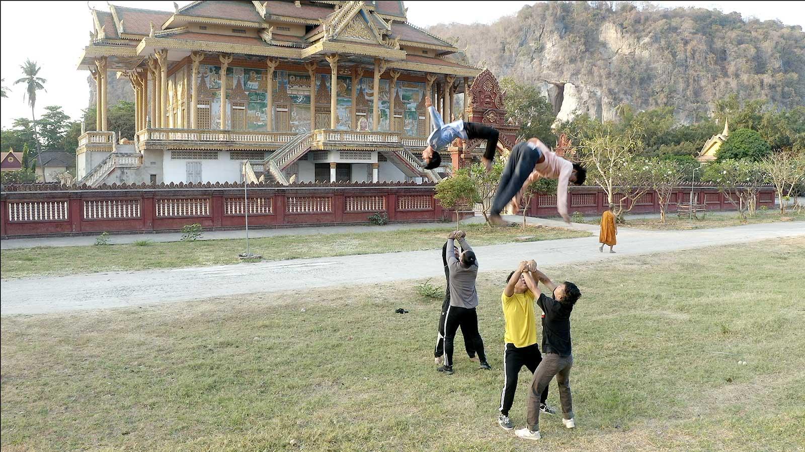 cambodia battambang circus video